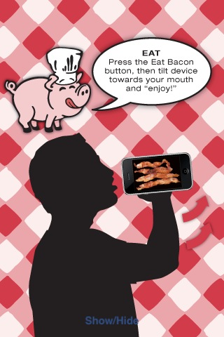 Screenshot iBacon: a game you'll flip over!